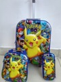 New 16 inch  Pokemon trolley luggage travel suitcase sets (lunch box + pen boxes+trolley luggage ) kids luggage