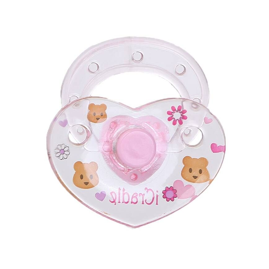 20pcs Pink Magnetic Pacifier Dummy for Reborn Magnetic Babies Dolls Accessories