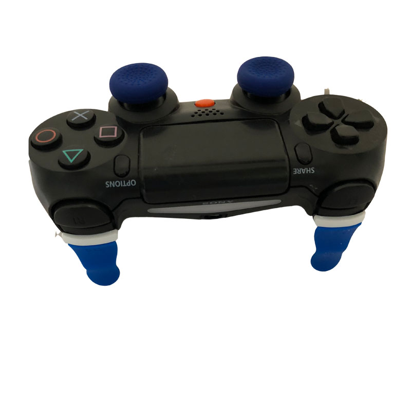 Rubber Extended L2 R2 Trigger Buttons Extender Pro For PS4 Pro PS4 Slim PS4 Controller with 2 Thumbstick caps L2 R2 Extender