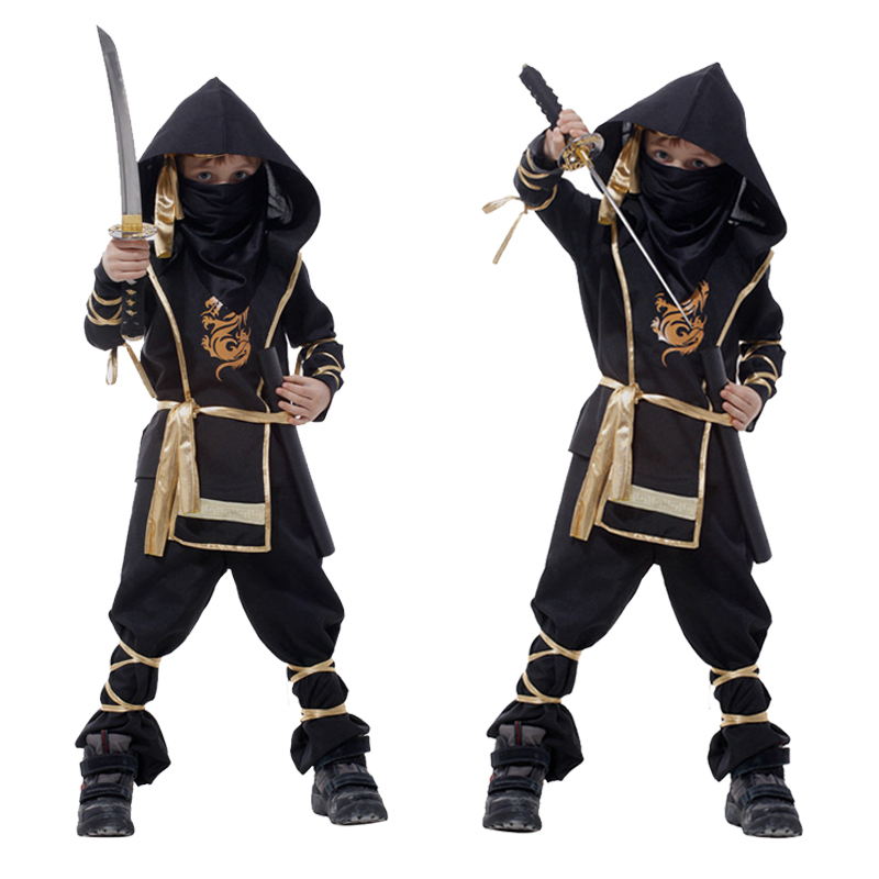 Cosplay Costume Classic Halloween Martial Arts Ninja Costumes For Kids Posh Party Decoration Supplies Children Boys B-0021