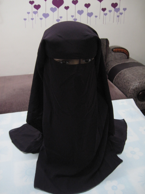 H1023 latest 3 layers muslim niqab islamic hijab fast delivery can order only black