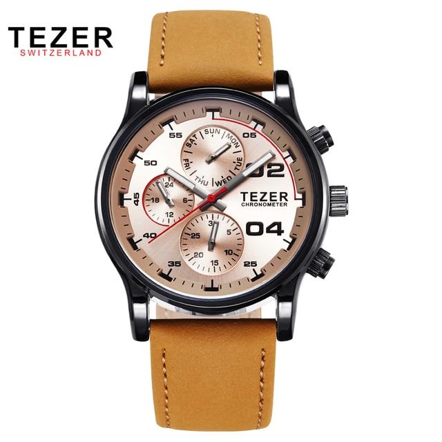 TEZER brand watches men sports watch business multi function quartz waterproof relogio masculino T2050G