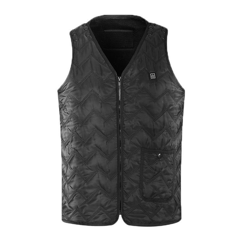 Thermostatic Heated Electric Vest Men And Women Heating Vest Usb Heating Charging Warm Body Electric Vest Outdoor Accessories