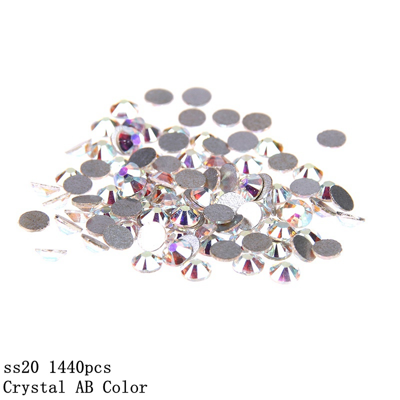 Strass Glass AB Rhinestones Non Hotfix ss20 4.8-5.0mm For 3D Nails Art Design Decorations Crystal For Nails Gel Nail Accessories gitter 2 6mm citrine ab color resin rhinestones 14 facets round flatback non hotfix beads for 3d nail art decorations diy design