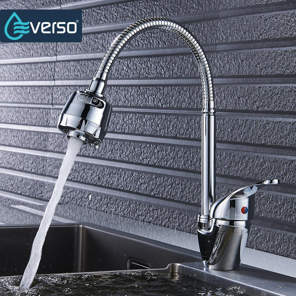 popular kitchen tap sets buy cheap kitchen tap sets lots from everso 1 set brass kitchen faucet mixer tap cold and hot kitchen tap single hole water