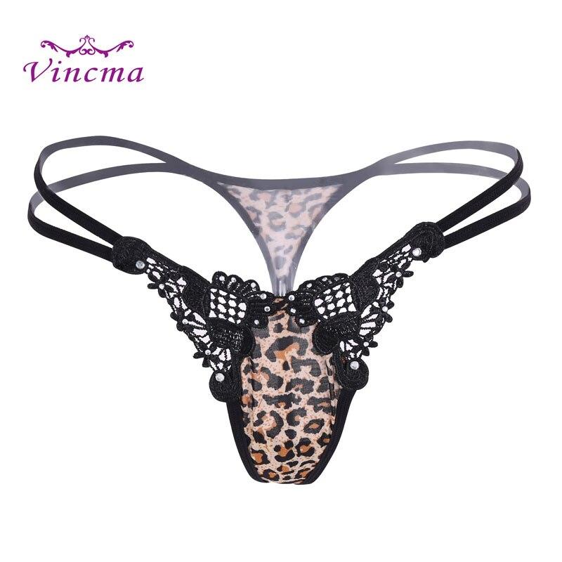 Buy New Style Women Leopard T Back G String Ladies Underwear Sexy Panties Thongs G strings Culotte Femme