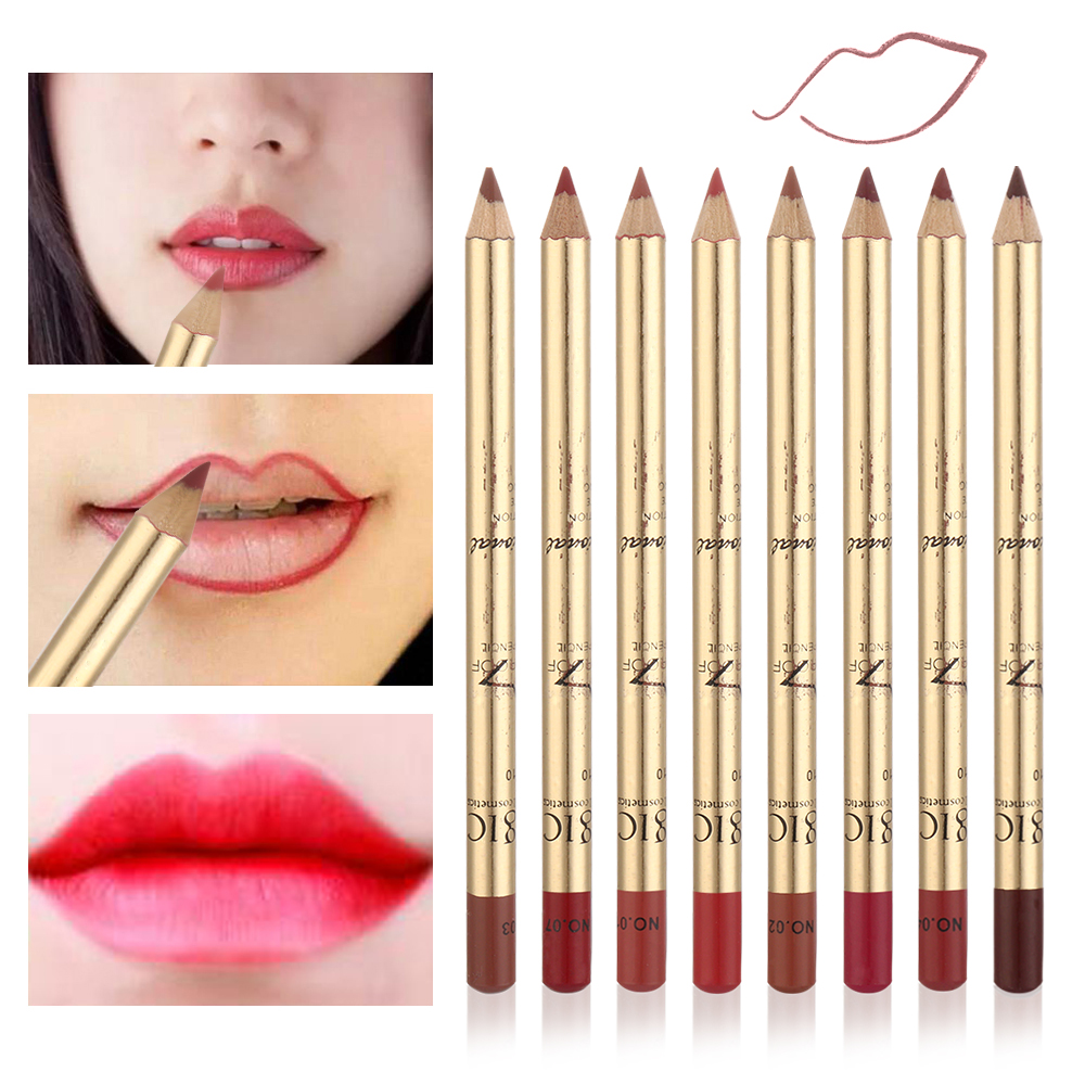 8Pcs/Set 3D Matte Lipliner Set Makeup Waterproof Contour Lips Pigment Red Lipstick Pencil Women Beauty Lip Liner Tool 1
