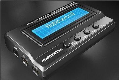 Hobbywing Multifunktions LCD programmierer Box Integrierte w/USB adapter Voltmeter 3/1 für ERUN und EZRUN serie auto ESC