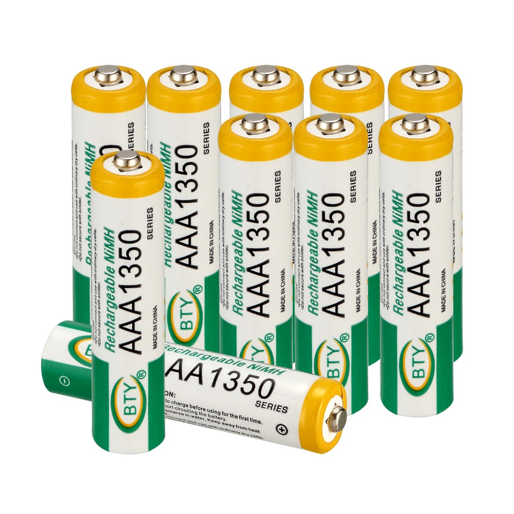 Ni-MH 1350mAh BTY 1.2V AAA Rechargeable Battery for RC Toys Camera Batteries аккумулятор 4pcs bty aaa 1 2v 1000mah ni mh rechargeable battery