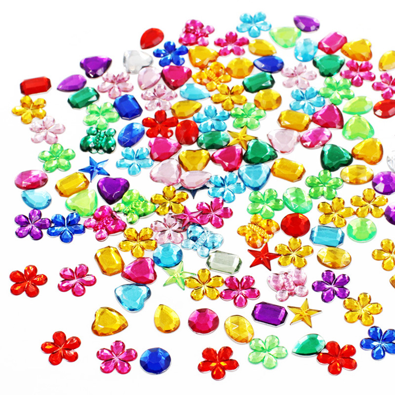 Toys For Children DIY 50 Pcs Kindergarten Acrylic Diamond Decorative Accessories Baby Kids Toys Decorative Material Puzzle Toys