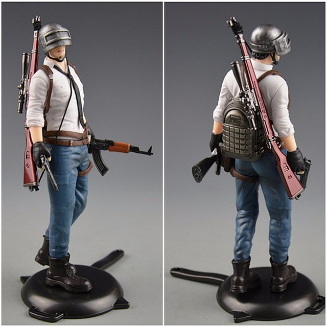Playerunknowns Battlegrounds  PUBG Around 6 inch doll figure spot to eat chicken tonight Metal Fashion Car Weapon model 12Style 5