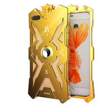 For iphone 8 Shockproof Metal Case Zimon Real Design Armor Aviation aluminum bumper phone cases For iphone 7 8 plus protective anti radiation aviation aluminum alloy bumper frame case for iphone 5 5s golden