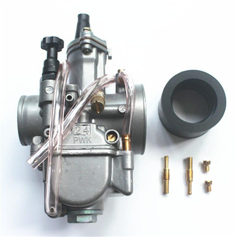 24 мм мотоциклетные Карбюраторы для мотоциклов 2-ход гонки плоская сторона часть oem для око PWK 24 Карбюраторы для мотоциклов 24 мм Fit чтобы Грязь ...