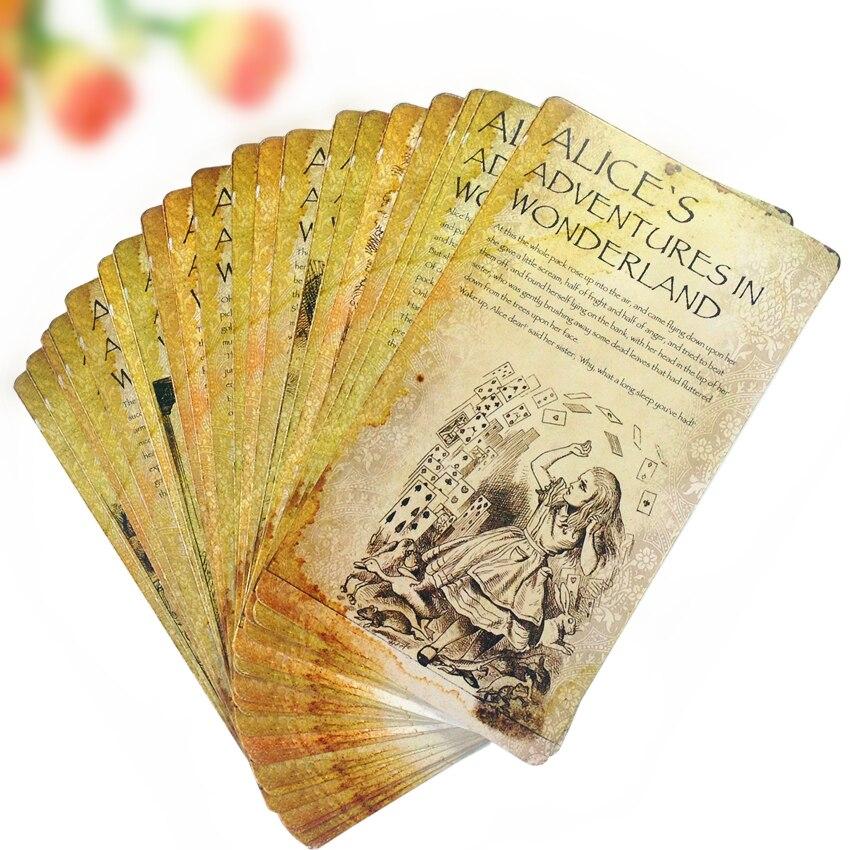 20pcs/set  Cartoon Alice's Adventures In Wonderland Postcard Set Kawaii Card For Students DIY Bookmark Story Cards For Kids