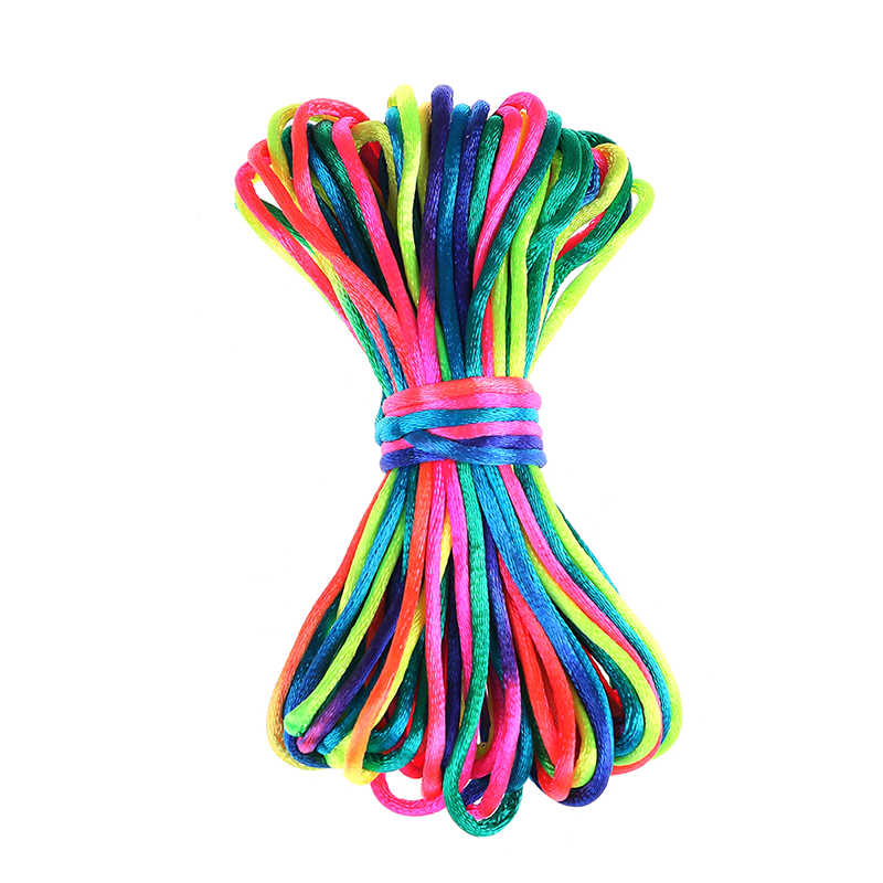 For Jewelry Making Beading Cotton Cord For Baby Braided Silk Cord MultiColor 10meter Satin Nylon Cord Solid Rope