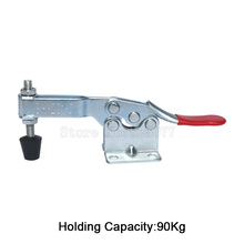 Wholesale 100PCS 90Kg/198Lbs Holding Capacity Horizontal Toggle Clamp GH-201B Metal Quick Release Tool JF1594 цена