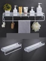 Punch free bathroom shelf wall mounted toilet storage shelf bathroom single layer wash top mirror front frame