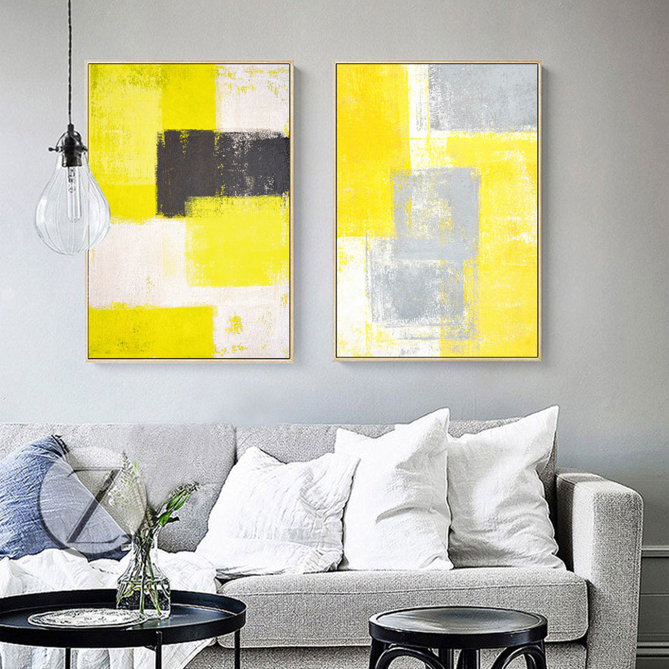 Unframed 3 Panel Abstract Poster