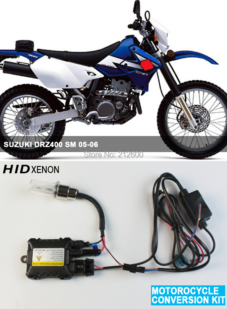 motorcycle moto hid xenon kit headlight motorbike hid lights ballast for suzuki drz400 sm 05 06. Black Bedroom Furniture Sets. Home Design Ideas