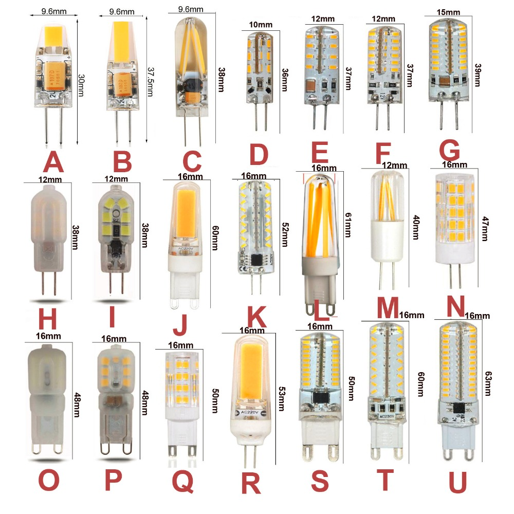10 قطعة G4 G9 LED لمبة التيار المتناوب DC12V 110 فولت 220 فولت عكس الضوء الدافئة الأبيض كول الأبيض لمبة ليد على شكل ذرة 3 واط 5 واط 6 واط 7 واط 9 واط استبدال ...