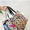 Women Handbags 2017 Fashion Laser Hologram Luxury Handbags Women Bags Designer Geometric Plaid Bag Casual Tote Top-handle Bag
