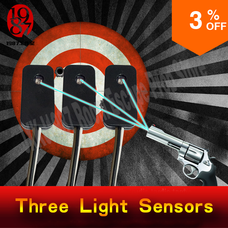 цена Escape room prop Three light sensors prop shooting the laser in the same time to unlock from JXKJ1987 for chamber room puzzle онлайн в 2017 году