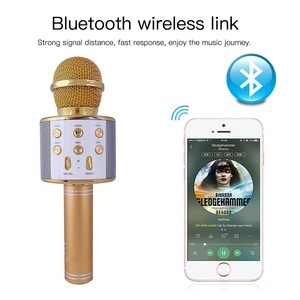 Image 3 - WS858 Wireless Bluetooth Microphone Karaoke Speaker High end Version Mic KTV Player Phone Mike For Computer Stage Conference