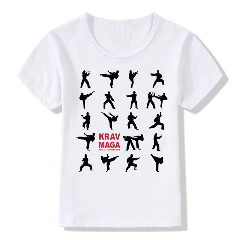 Boys&Girls Print Israel Krav Maga T-shirt Children Summer Self Defense Fitness IDF T Shirt Kids Tops Tee Baby Clothes,ooo715