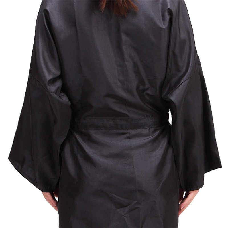 Do cięcia włosów fryzjer cape wodoodporny Kimono tkaniny do użytku domowego salonu fryzjer peleryna basen-na zewnątrz biuro wycieczkowe Wrap