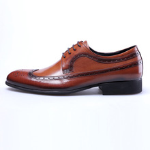 QYFCIOUFU 2019 Vintage Handmade Patined Genuine Leather Shoe Lace Up Wedding Dress Office Party Shoe Designer Mens Oxford Shoes