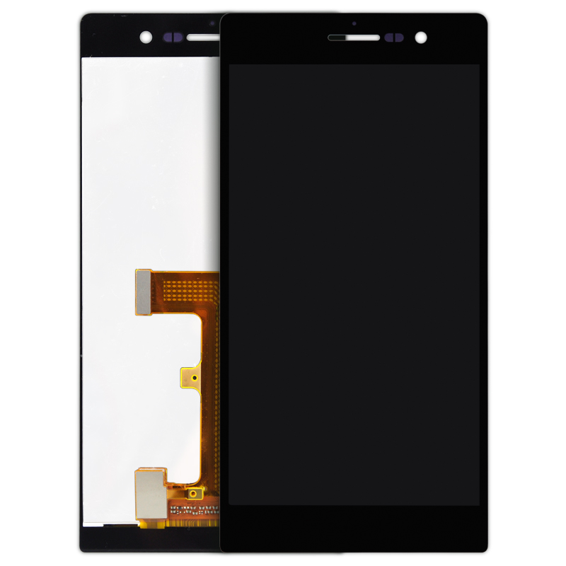 ФОТО 1pcs  shipping For HUAWEI P7  LCD Screen with Touch Screen BEST quality BLACK WHITE Digitizer Assembly Replacement