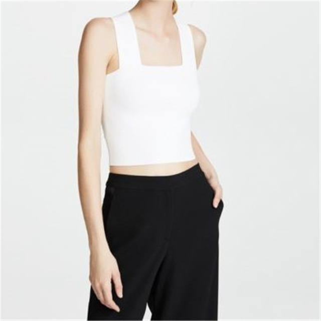 06e09eae2cdff Square Neck Polyester Strap Camis Womens Backless Crop Top White Basic Tops  2018 Streetwear Cropped Top