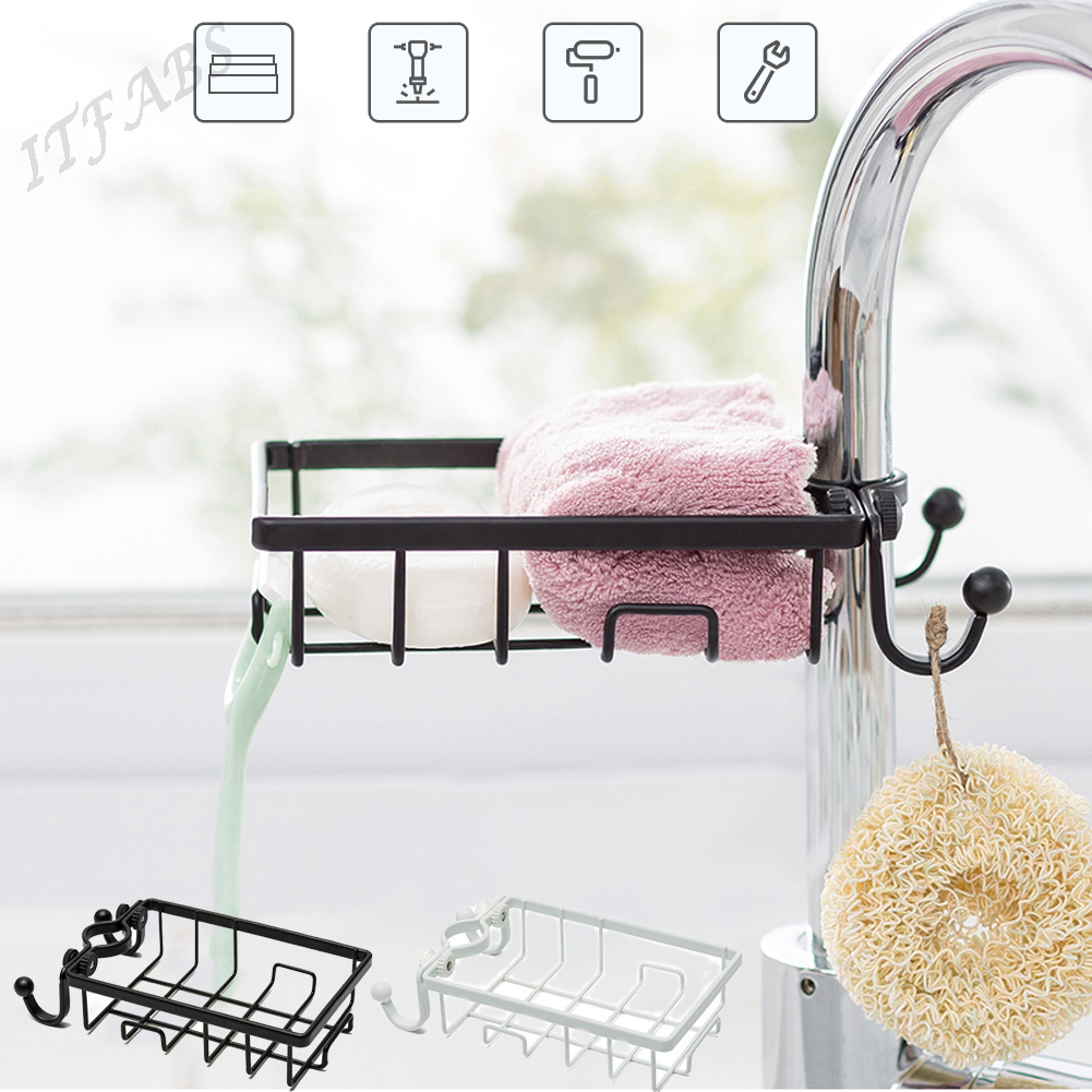 2019 Stainless Steel Kitchen Sink Sponge Shampoo Shower Holder Bathroom Hanging Strainer Organizer Storage Rack Bathroom Shelf