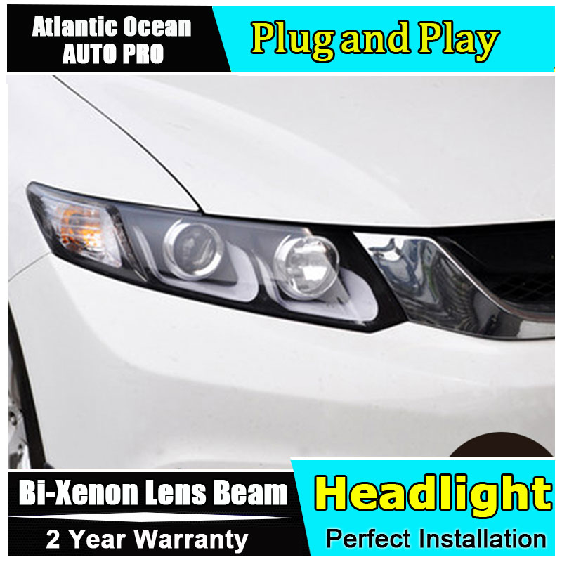 Car Styling LED Head Lamp for Honda Civic headlights 2012-2014 New Civic LED drl HID KIT LED Bi-Xenon Lens low beam 1pcs lot n15s gt b a2 computer chips new
