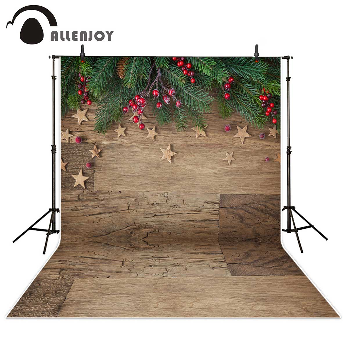 Allenjoy backgrounds for photo studio Christmas wood stars green leaves backdrop photocall photobooth photographic allenjoy photographic backdrop spider owl moon hand halloween invitation card party baby photocall backgrounds for photo studio