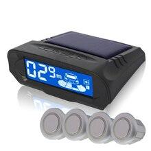 NY318/4 sensors Car styling wireless parking sensors/Solar charging + LCD display car detector parking assistance parking sensor