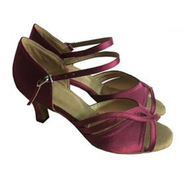 New Free Shipping Burgandy Satin Ballroom Latin Dance Shoes Wholesale Salsa Dance Shoes ALL SIZE