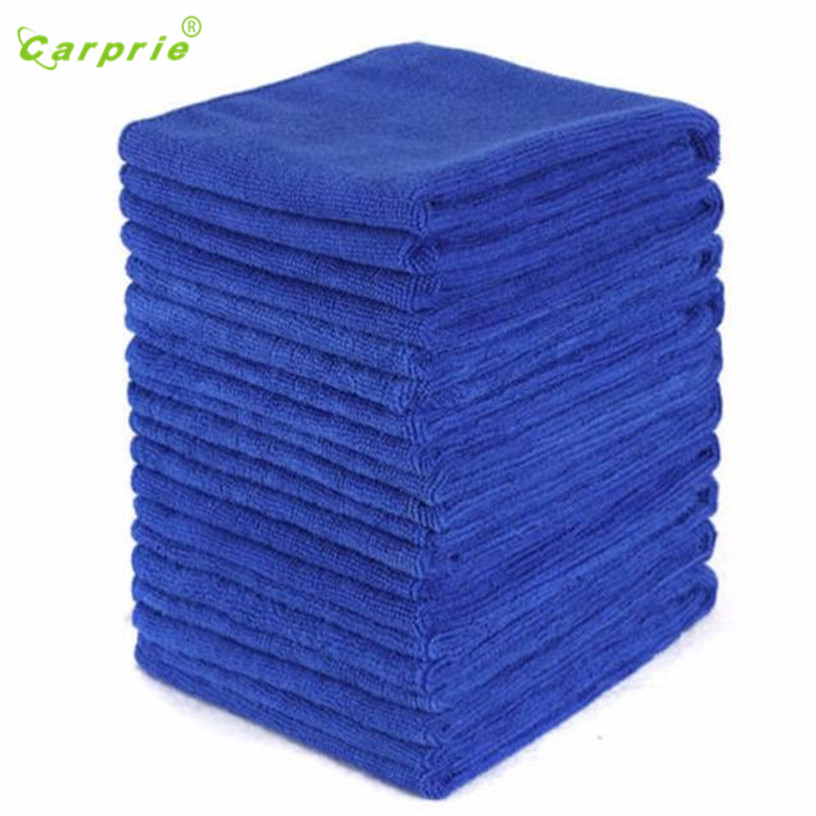 Dropship Hot Selling 10PCS Blue Absorbent Microfiber Towel Car Wash Clean Sponge Brush Glass Cleaner Wave Gift May 23 ultrafine absorbent towel used to clean the car