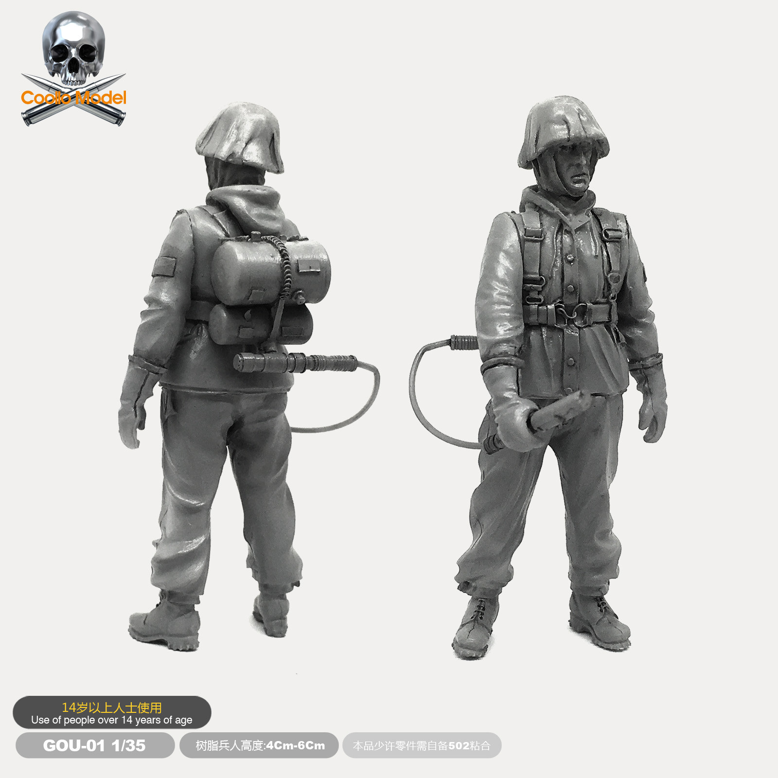 1/35  Resin  Soldier Gunners Model Figure Kits  Self-assembled  Gou-01