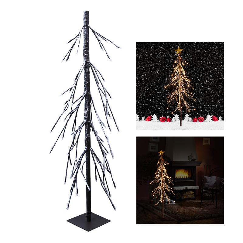 YUNLIGHTS 75 LED Decorative Fir Snow Tree Light with Remote Control for Christmas Village Home Festival Party with US Plug 10m 100 led 110v 8 mode fancy ball lights decorative christmas party festival twinkle string lamp strip rgb us plug