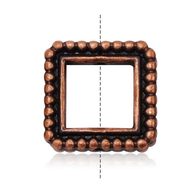 20pcs Bulk Antique Copper Square Metal Granulated Bead Frames ...