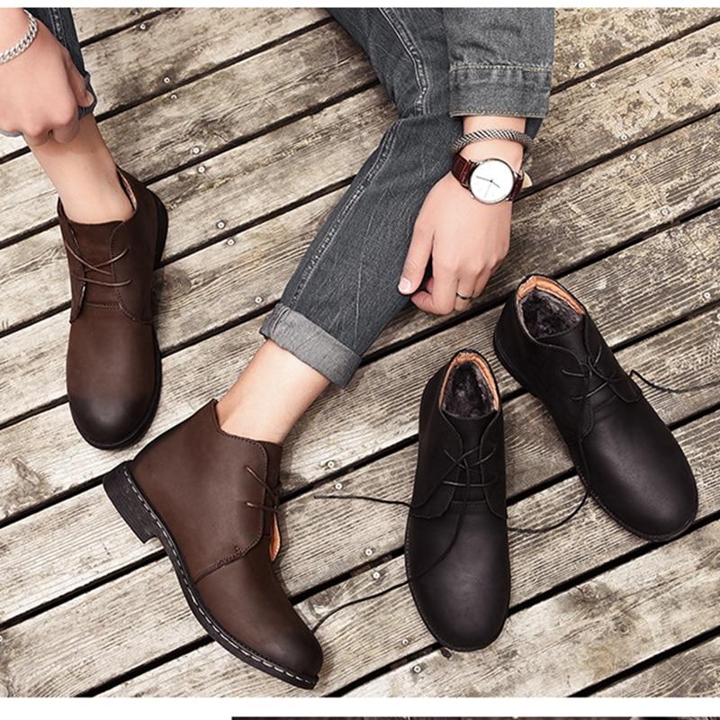 0e26d9453e5 Comprar Alta Calidad Tobillo Zapatos De Cuero Genuino Hombres ...