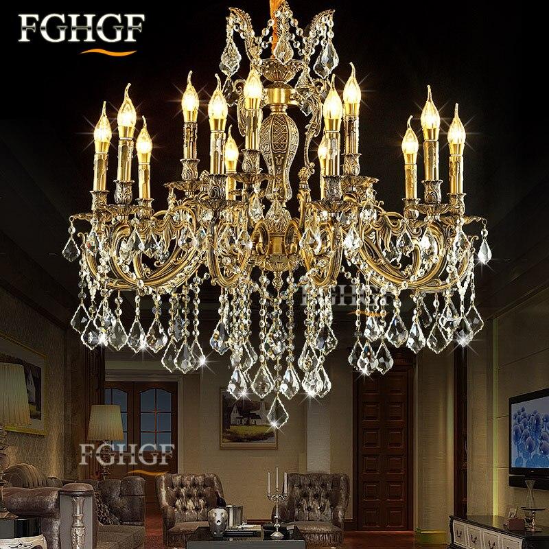 Large K9 Crystal Chandelier Light Luxury Chandeliers Lamp