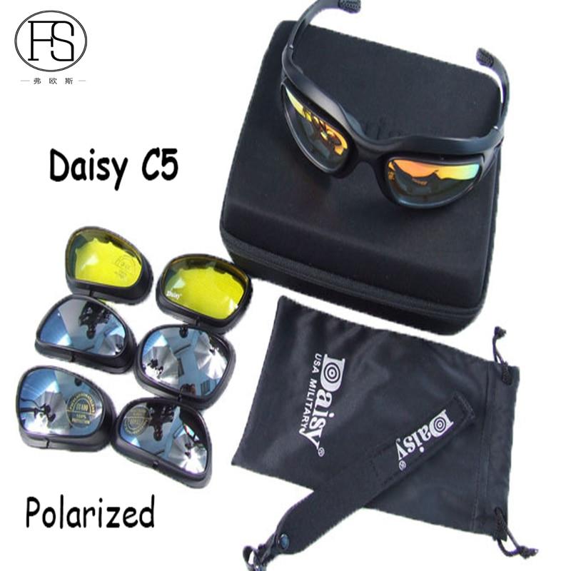 Prix pour 2017 Nouveau produit Daisy C5 vélo sport polarisées lunettes ciclismo de protection des yeux lunettes de soleil armée militaire lunettes lunettes