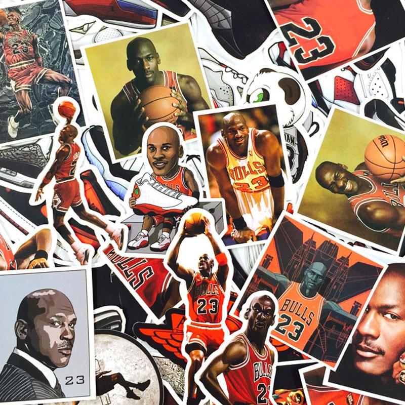 52pcs Not Repeat Basketball Stars Sneakers Notebook Bike Luggage Box Tide Brand Shoes Jordan Graffiti Jordan