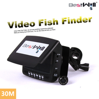 Visible Video Fish Finder 30M 4.3 LCD Monitor Underwater Video 1000TVL Fishing Cam Fish Finder 8 LED Night Vision&Sunvisor