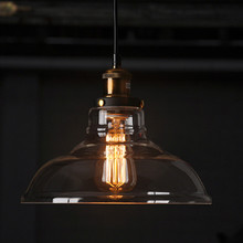American Country Retro Vintage Glass Lampshade Pendant Light Glass Lamp for Bar Cloth Shop Pendant Lamp lustres Fixtures