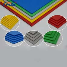 2pcs/lot 300x200mm PVC foam board plastic flat sheet 5colors model plate