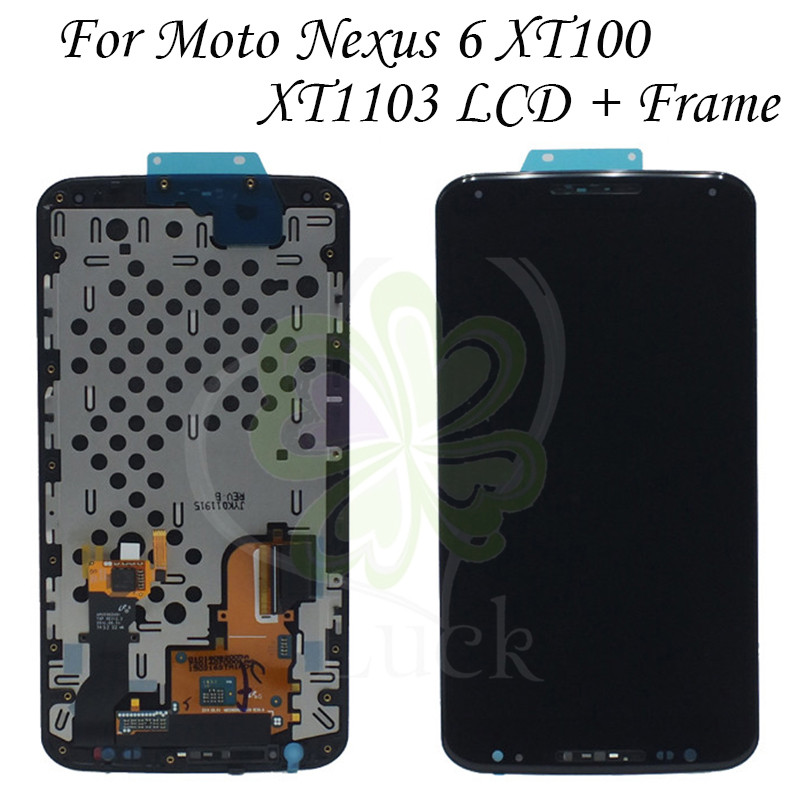 100 tested For Moto Google Nexus 6 LCD for XT1100 XT1103 Display LCD Screen Touch Digitizer