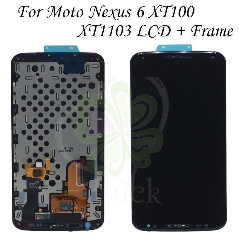 100% についてテスト Moto ネクサス 6 液晶 XT1100 ため XT1103 ディスプレイ液晶画面タッチデジタイザーアセンブリ  グループ上の 携帯電話 & 電気通信 からの 携帯電話用液晶ディスプレイ の中 1